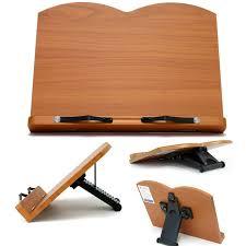 book stand portable wooden reading recipe cookbook desk holder lavender