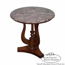 drexel heritage round marble top side table