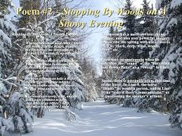 analysis of poetic devices in nature poems ppt video online  poem 2 stopping by woods on a snowy evening