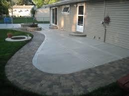 Back Yard Concrete Patio Ideas | Concrete Patio California finish and  Unilock Old Greenwich Sierra.