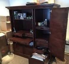 armoire office desk. bausman u0026 company computer secretary desk armoire solid wood home office n