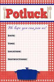 Potluck Flyer Potluck Poster Invitation Announcement Sign