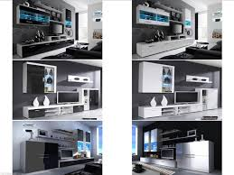 Living Room Furniture Sets For New High Gloss Living Room Furniture Sets Cabinets With Leds