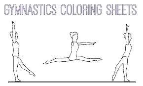 Gymnastics Coloring Page Printable Book Pages Pri Artigianelliinfo