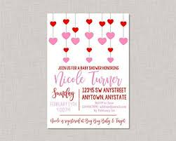 Valentines Invitations Amazon Com Ruskin352 Valentine Baby Shower Invitation Valentines