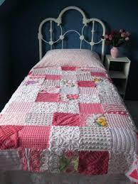 Pink Patchwork Quilt Vintage Chenille Patchwork Quilt Twin Bed By ... & Pink Patchwork Quilt Vintage Chenille Patchwork Quilt Twin Bed By  Cuddlycomforts 27500 Pink Patchwork Double Bedding Adamdwight.com