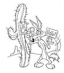 Small Picture Wile E Coyote Take a Phone from Roadrunner Coloring Pages Batch