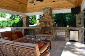 surprising ideas outdoor kitchen and fireplace 2 gallery image