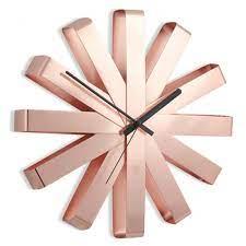umbra ribbon wall clock copper red