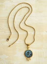 bronze ceasar coin necklace italian trunk show handcrafted in renaissance master michelangelo s birthplace of arezzo tuscany where the picturesque
