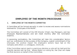Employee Of The Month Award Letter Employee Of The Month Award V2