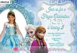 Frozen Birthday Invitations Personalised Disney Frozen Birthday Invitations Elsa Anna Olaf