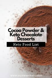 And, making keto fudge with cocoa powder and sea salt is super easy. Cocoa Powder For Keto Desserts My Sweet Keto