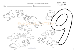 Small Picture Number coloring pages Number 9
