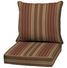 Decorating Brown Striped Lowes Patio Cushions For Patio