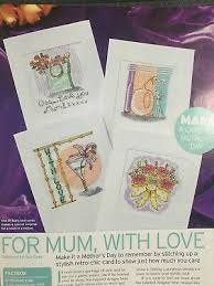 Mother Day Chart Cross Stitch Chart 4 Mothers Day Cards Cocktail Gift Bag