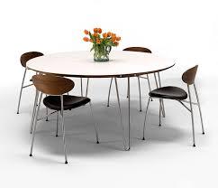 danish corian circular dining table