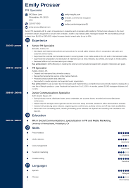 Examples Of Public Relations Resumes Public Relations Resume Sample Complete Guide 20 Examples