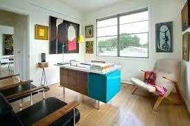 mid century modern home office. Mid Century Office Miller Desk Home With Armchair Art Doorway Modern O