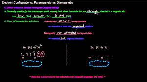 Electron Configurations Part 12 Of 12 Paramagnetic Vs Diamagnetic