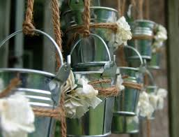 Chic Galvanized Buckets For Bucket Ideas: Rustic Wedding Favors Mini Galvanized  Buckets Ideas