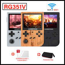 RG351V 3.5Inch Retro Tay Cầm Chơi Game RK3326 Mini Di Động Máy Chơi Game  Cầm Tay Người Chơi Xây Dựng In WIFI Video Máy Chơi Game Trẻ Em quà Tặng