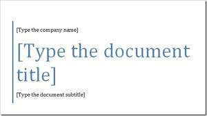 Cover Page For Word Document Quickly Add A Cover Page In Word The Productivity Hub