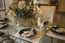 elegant table settings. A Cream And Brown Informal Setting On Glass-top Table. The Dining Chairs Elegant Table Settings