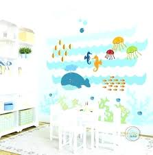 baby room decals whale wall decals kids wall decal under the sea extra large nursery artwork wall sticker for baby room wall decals canada