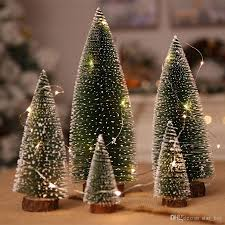 Mini Christmas Tree With Lights And Decorations Mini Snow Frost Trees With 1m String Light Mini Christmas Tree Plastic Winter Snow Ornaments Tabletop Trees For Holiday Party Diy Room Decor Online