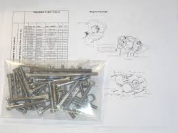 triumph t tv trident engine covers pcs stainless unc allen exploded diagram included to assist assembly