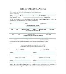 Bill Of Sales Generic Gorgeous Camper Bill Of Sale Template Bill Trailer Bill Of Sale Template
