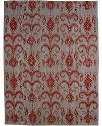 a red and grey rug carpet available through david e adler inc
