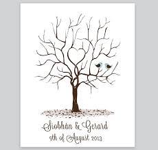 Tree Design Fingerprint Tree Design 4 Loving Invitations