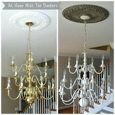 paint brass chandelier how