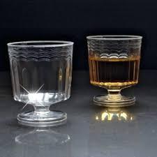 mini catering supplies 2 oz disposable plastic wine glasses stemless m