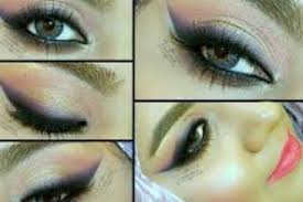 eid makeup 1 soft gold cloudy pink purple smokey liner look video dailymotion