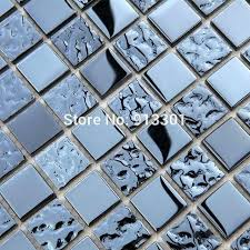 mesh tile backsplash crystal mosaic tile mesh dark blue bathroom wall tiles metal coating glass tile