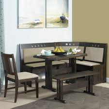 ... Dining Tables, Amazing Black Rectangle Rustic Wooden Nook Dining Table  Stained Design: Extraordinary nook ...