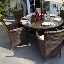 cannes rattan round 6 seater garden furniture dining set six seater garden table and chair sets