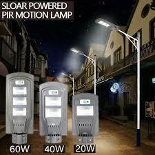 40/60W <b>Solar</b> Street <b>Light</b> Radar PIR <b>Motion Sensor Light</b> Activated ...