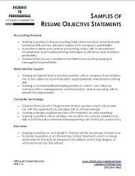 Business Internship Objective Resume Good For Receptionist