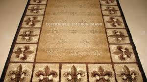 fleur de lis area rug brilliant collection in runner with lys 4
