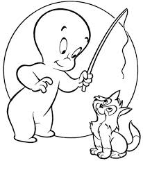 Small Picture Wendy And Casper Ghost Coloring Pages For Kids Cartoon Coloring