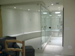 glass shower doors frameless tub sliding cost