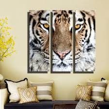 Modern Wall Paintings Living Room Hd Oil Painting Tiger Head Wall Art Home Decor Animal On Canvas