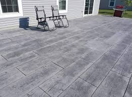 new pour stamped concrete indy