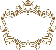 crown picture frame retro frame with royal crown and flowers for wedding or heraldry design stock