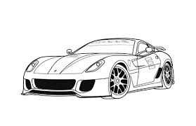 Sports Car Tuning 153 Transportation Printable Coloring Pages