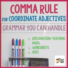 Using A Comma Teaching Resources Teachers Pay Teachers